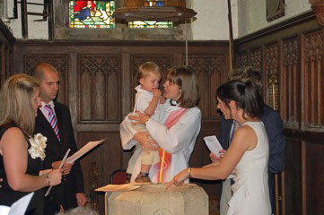 picture from a baptism service in July 2011