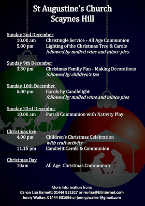 Advent and Christmas Services 2018