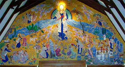 The church tapestry seen as a whole