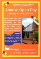 Poster produced for the Annexe Open Day on 9th June 2012