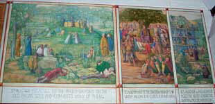 Right section of the St Augustine painting