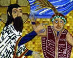 Detail of the Jesus healing the Man born Blind