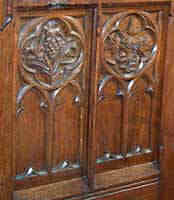 Detail of carvings on chancel screen