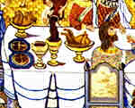 Detail of the Wedding Feast at Cana