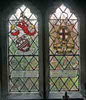 Second world war commemoration stained glass