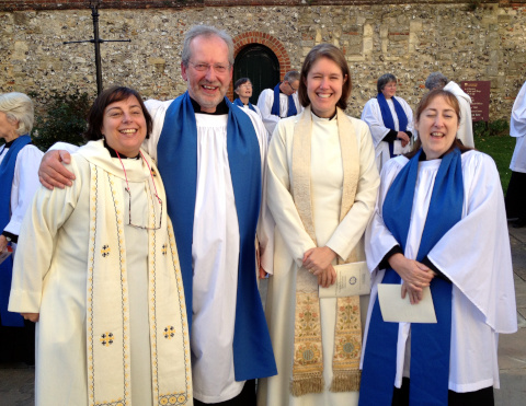 Clergy and Readers at Steve's Licensing